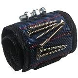 Xidan Braccialetto Magnetico Strumento Braccialetto Regolabile per Tenere la Vite, Unghie, trapano, il strumento fai da te
