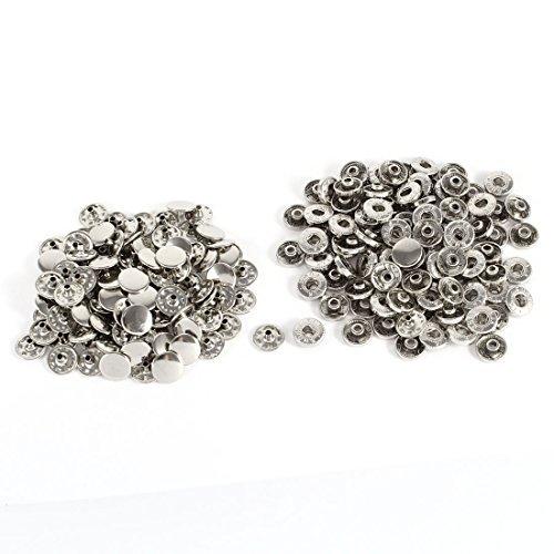 100 Sets Zilver Tone Metal Reparatie deel Belt Rivet Stud Metal Stud Belt