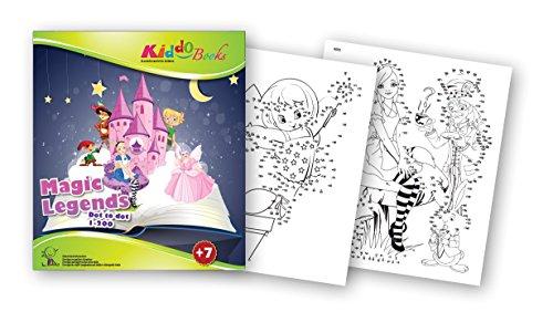 Preisvergleich Produktbild QuackDuck Malbuch Magic Legends - Dot to Dot 1-200 - Magische Legenden - Märchen - Von Punkt zu Punkt 1-200 - Malblock für Kinder ab 7 Jahre - mit buntem Sammelumschlag zum Einstecken