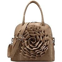 FASH Limited Grande Rose Snake Stampa strutturato maniglia superiore borsa