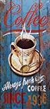 MI RINCON Tableau en Bois Vintage Motif Coffee Since 1936 pour décoration Murale de Maison, Magasin, Garage, Bar, pub...
