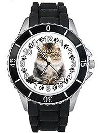 a6063ade9c07 Timest - Gato del Himalaya - Reloj Unisex con Correa de Silicona SE0108  (Negro)