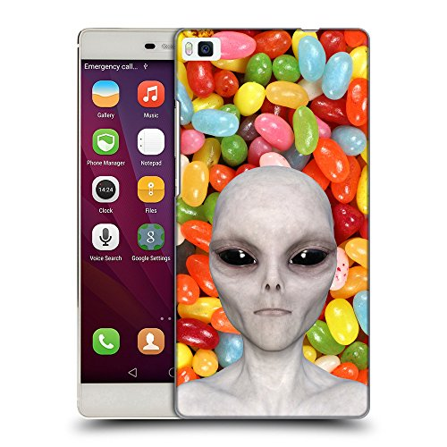Grand Phone Cases TPU Gel Funda Carcasa Tapa Case Cover para // Q05510654 Alienígena Caramelo de Color // Huawei Ascend P8