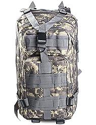 Mochila 30L Táctica Para Exterior, Supervivencia, Trekking, paintball, caza, senderismo, deportes con muchos bolsillos., Military grün