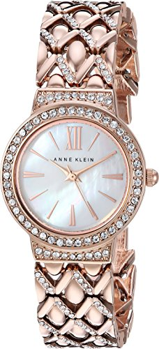 Anne Klein para Mujer AK/1994mprg Swarovski Crystal Acentuado Rose Gold-Tone Reloj de Pulsera