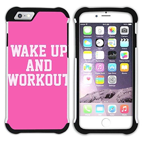 Graphic4You Gym Motivierung Zitate Krafttraining Hart + Weiche Kratzfeste Hülle Case Schale Tasche Schutzhülle für Apple iPhone 6 / 6S Design #5