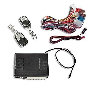 JOM 7105-1 Keyless Open Funkfernbedienung für Vorhandene Original-Zentralverriegelung, Universal, mit 2 Mini-Funksender Edelstahl
