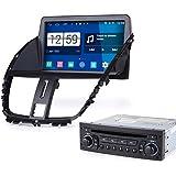 Rupse Android 4.4.4 Autoradio DVD GPS Système de Navigation Stéréo Lecteur DVD Voiture 8 pouces HD Écran Capacitif pour 2009 Peugeot 207