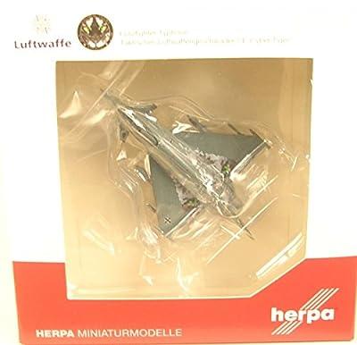 """Herpa 558327 Fahrzeug """"Luftwaffe Eurofighter Typhoon - TaktLwG 74 Bavarian Tigers - Cyber Tiger"""" von Herpa"""