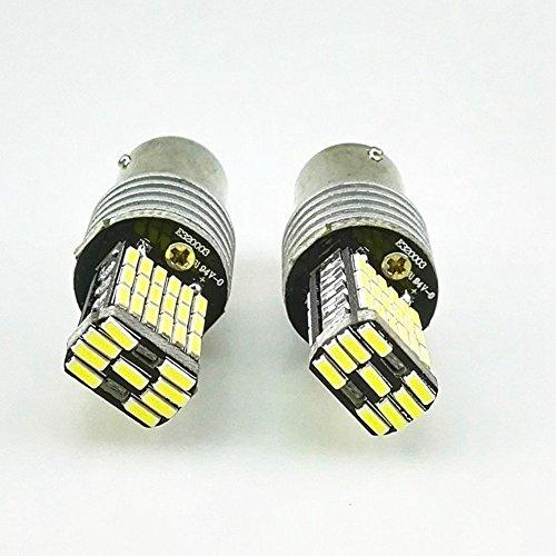 KATUR 2 pz Bianco 850LM 1156 P21W BA15S 4014 45SMD Decoder Lampada Canbus Lampadina Luci di retromarcia Con Resistenza LED Segnali di direzione della lam