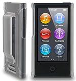 Eclips Hardcase mit Clip Halterung Klar Cover Hülle Case Bag für Apple iPod Nano 7 7G
