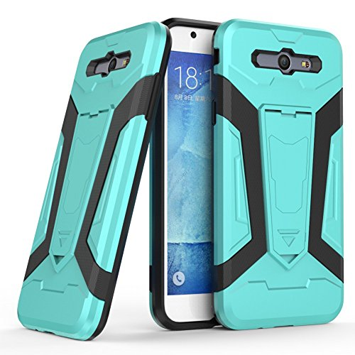 iPhone SE Coque DWaybox Iron Man 2 Series 2in1 Combo Hybrid Armor Hard Phone Back Housse Coque avec Kickstand pour Apple iPhone SE / 5S / 5G 4.0 Inch (Black) Sky Blue