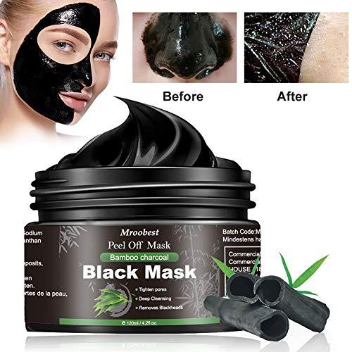 Black Mask, Blackhead Maske, Mitesser Maske, Schwarze Maske Gegen Mitesser, Bambus Holzkohle Peel...