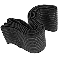 broadroot 1par Fitness vendaje para rodillas de levantamiento de pesas apoyo para gimnasio, negro