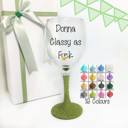 Funny personalised wine glass glitter glitter wine glasses personalised one wine glass with - Funny wine glasses uk ...