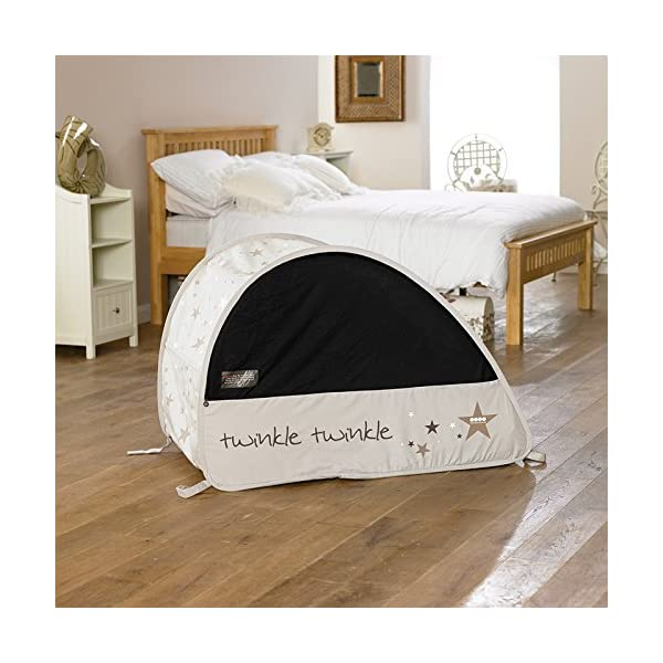Koo-di 100 x 60 x 73 cm Sun and Sleep Pop Up Travel Bubble Cot  A comfortable cot ideal for use at home and on holidays or weekends away A polycotton travel cot Ideal 6-18 months and when outgrown, makes an ideal playhouse for little ones 7