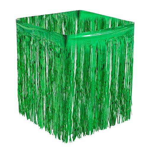 MagiDeal Tischrock Tisch Lametta Vorhänge Tisch Röcke Fadenvorhang Glittervorhang für Hochzeit Party Dekoration - Grün