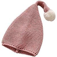 Toyvian Sombrero cálido navideño de Santa con pompón Mullido para niños (Rosa)