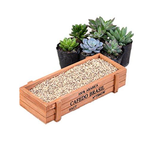 OUNONA Vintage Rechteck Pflanzkübel Holz Bett Topf Box Blumengarten Pflanzer