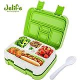 Jelife Leakproof Bento Box 5 Compartment Lunch Box Microwave Freezer Dishwasher Bento Box