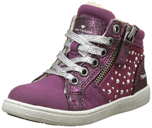 TOM TAILOR Mädchen 3772710 Hohe Sneaker Rose (Berry) 30 EU