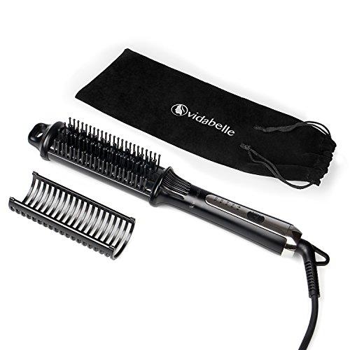 Vidabelle spazzola lisciante e arricciacapelli elettrico | spazzola modellante in ceramica peer capelli lisci o ricci