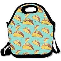 Preisvergleich für Smile mexikanischen Tacos Lunch Bag Handtasche Lunchbox Food Container Tote Cooler Warm Tasche für Schule Arbeit Büro