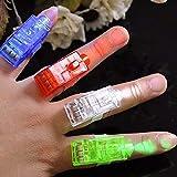 10 x LED fingerlampa medbringande fingerring lampringar fingerbelysning ring för finger medborgare gästgåvor barnkalas födels