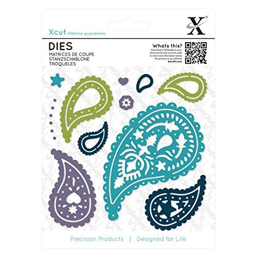 Xcut Alphabet-Dies/Alice Distanzhülse/Schnitt-Detail-Schablone, Metall, schwarz, 0.47 x 13.81 x 18.67 cm
