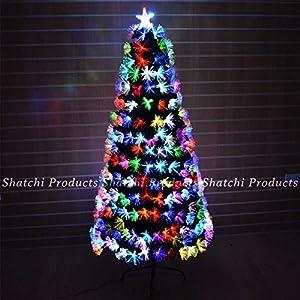 Gifts 4 All Occasions Limited SHATCHI-566 - Árbol de Navidad (120 cm, fibra óptica, cambia de color con varios efectos, decoración de Navidad), color verde