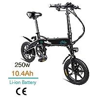 FIIDO D1 14 Pulgadas Bicicleta eléctrica Plegable, Bicicleta eléctrica de bat...