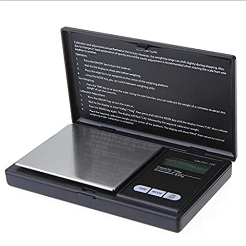 100g 0,01Mini balance de précision numérique de poche Bijoux balance électronique LCD Échelle Clamshell, léger et portable, 2, 200g/0.01g