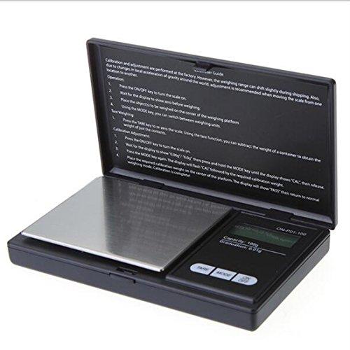 100g/0,01g Mini Digital Pocket Maßstab Präzisionswaage Schmuck Electronic LCD scale Klapp, leicht und tragbar, 1, 100g/0.01g (Gepäck Korn)