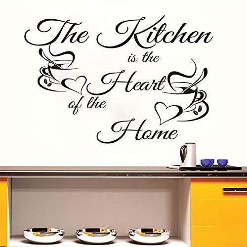 Die Dekoration der Küchenkaffeetasse ist das Herzstück des Hauses.Vinyl dekorative Wandaufkleber PVC wasserdicht selbstklebende Tapete 59X40CM