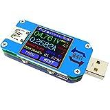 USB Tester UM25 USB Voltmetro USB Tester di voltaggio Display LCD a colori Tester USB Multimetro digitale Tensione di corrente Tester Voltmetro Amperometro Carica batteria, 1.44 pollici 5A USB 2.0 Tipo-C