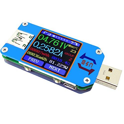 geladene Kapazit/ät Strom YOTINO USB Multimeter Digitale Amperemeter Digitale Voltmeters Tester Detektor f/ür Spannung