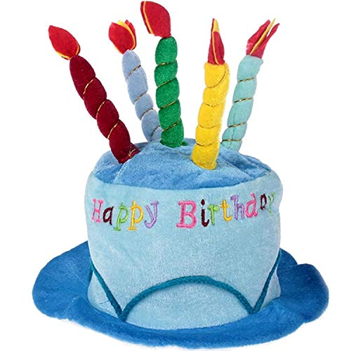 Qingjinsd Sonnenhut Erwachsene Geburtstagstorte Kerze Stil weichen Geburtstag Partyhut Foto Dekoration Kostüm Zubehör Artikel liefert blau