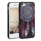 Asnlove iPhone 5/5S/SE Hülle, TPU Handy Schutzhülle für Apple iPhone 5/5S/SE Silikon Weich Handytasche Traumfänger Tasche Schutz Cover