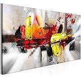 murando - Bilder Abstrakt 140x70 cm - Leinwandbild - 1 Teilig - Kunstdruck - modern - Wandbilder XXL - Wanddekoration - Design - Wand Bild - bunt Wie Gemalt a-A-0320-b-a