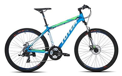 SALES Mens 26'' Mountain Bikes Bicycles 27 Speeds SHIMANO aluminium Frame (Blue)