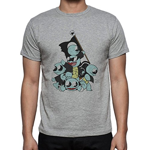 Pokemon Squirtle Water Turtle Squad Big Herren T-Shirt Grau