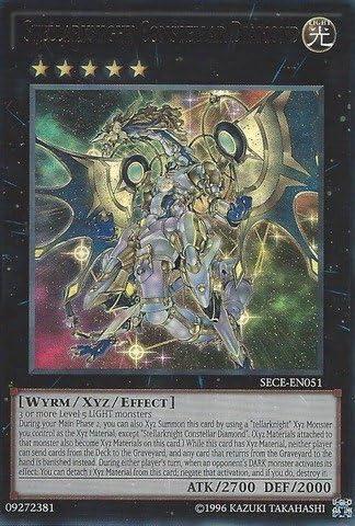Yu-Gi-Oh! - - - Stellarknight Constellar Diamond (SECE-EN051) - Secrets of Eternity: Super Edition - Unlimited Edition - Ultra Rare by Yu-Gi-Oh! | Paquet Solide Et élégant  b1c0d1