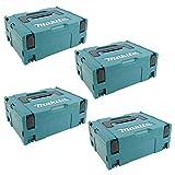4 Stück Makita Koffer MAKPAC Set Gr.2 - OHNE Boden- und Deckenpolster