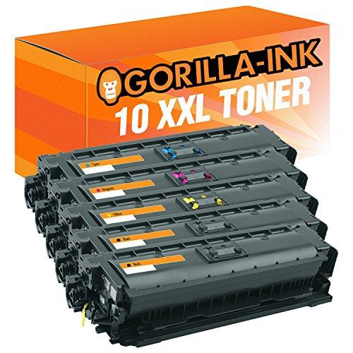 Gorilla-Ink® Farbset 10x Toner XXL für HP CF360X-CF363X 508X M553 X MFP M570 Series MFP M577 DN -