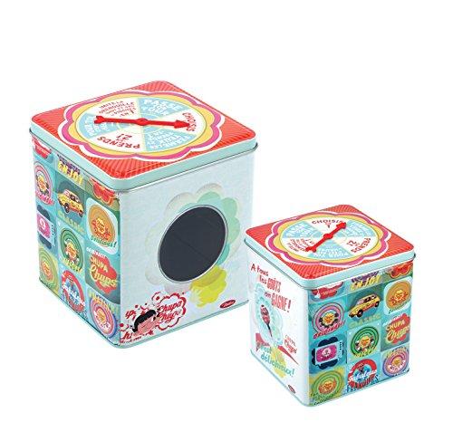 Natives 701340 Boîte à Bonbons Aiguille, Métal, Multicolore, 12,35 x 12,5 x 14,5 cm