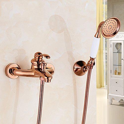 Preisvergleich Produktbild ZQ@QX Continental gold-Kupfer Rose Gold antik Duschen, Abs. B