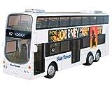 Happy Cherry - Autobús Mini de Juguete Infantil con Luz y Sonido de Dos Pisos Modelo de Auto para Niños Niñas-Color Blanco