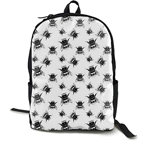 Flight of The Bumblebees Adult Premium Travel Backpack, Water-Resistant College School Bookbag, Sport Daypack, Outdoor Rucksack, Laptop Bag for Men&Women