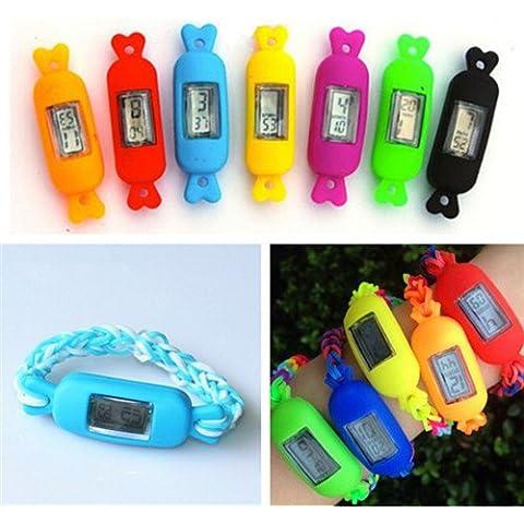 Chronos Diy telaio Kit braccialetto elastici artigianali colori caramella vigilanza digitale