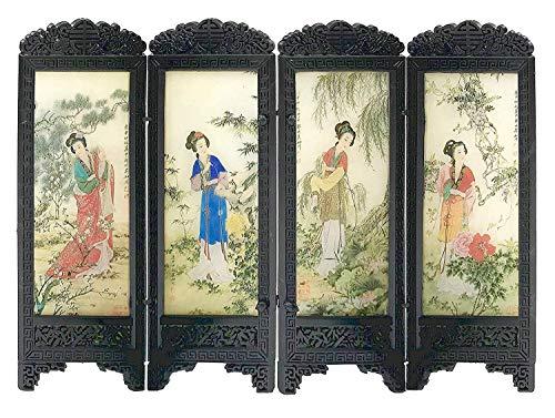 Puppenhaus Möbel Chinese Boudoir Umkleide Trennwand Damen Design 4in Square Platte